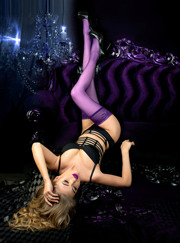 Ballerina 517 Hold Ups Purple