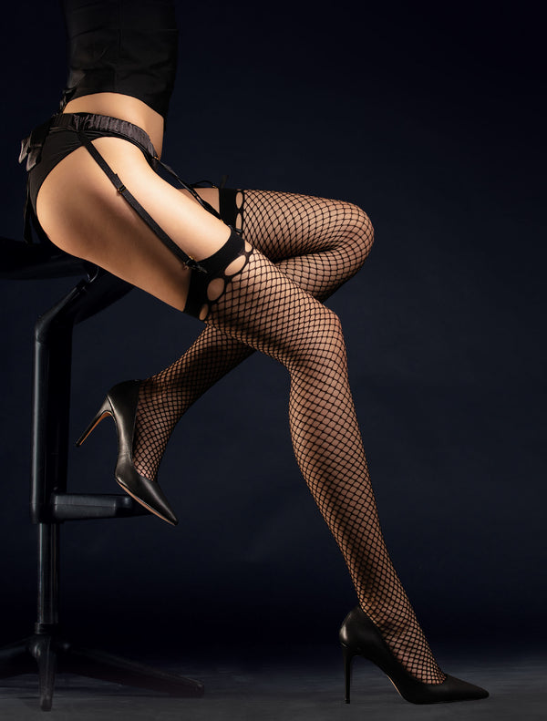 Fiore Burlesque Stockings