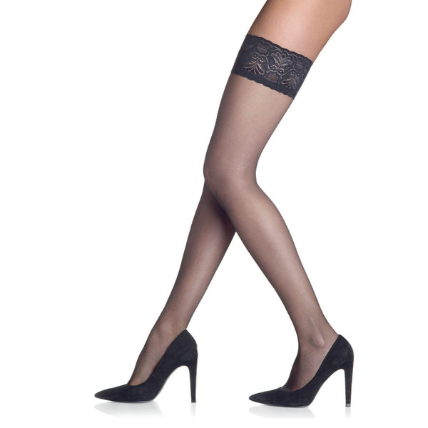 Sarah Borghi Dream 15 Hold Ups - black, camel, coffee