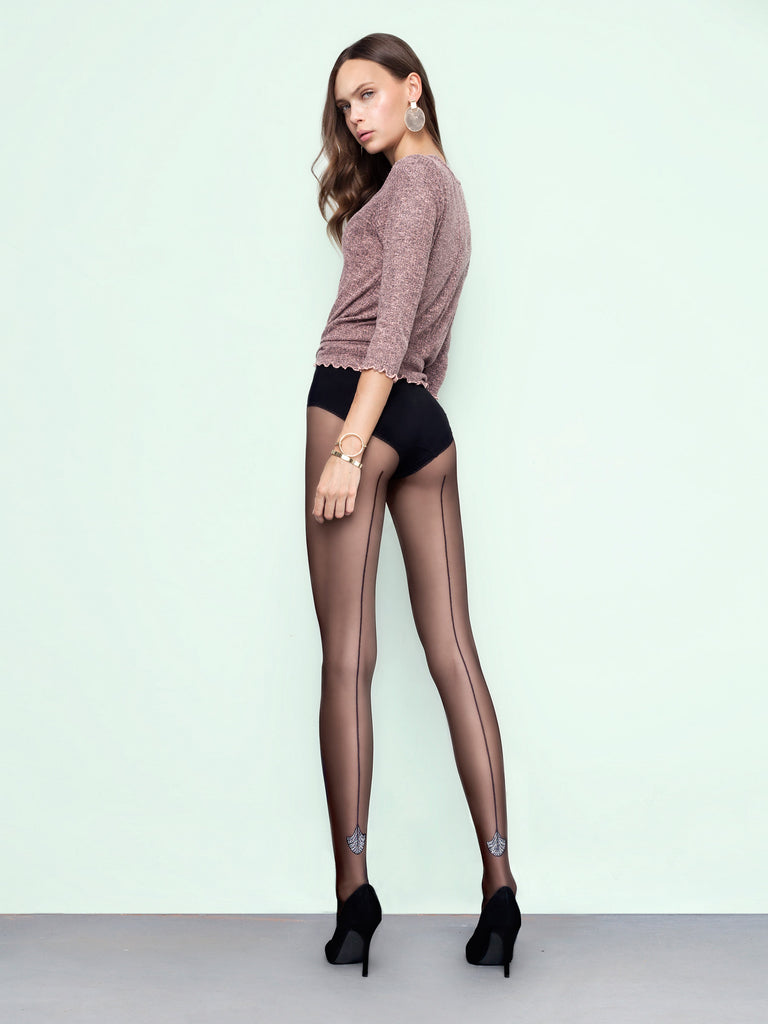 Fiore Flare Seamed Tights