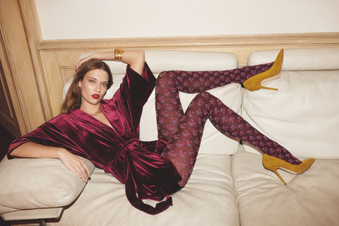 Oroblu Flower Dahlia Tights