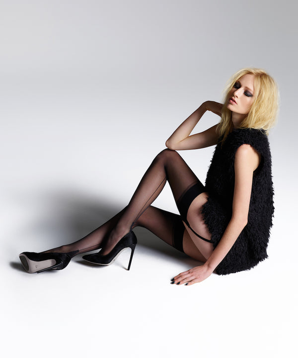 Jonathan Aston - Vintage Black Back Seam & Heel Stockings
