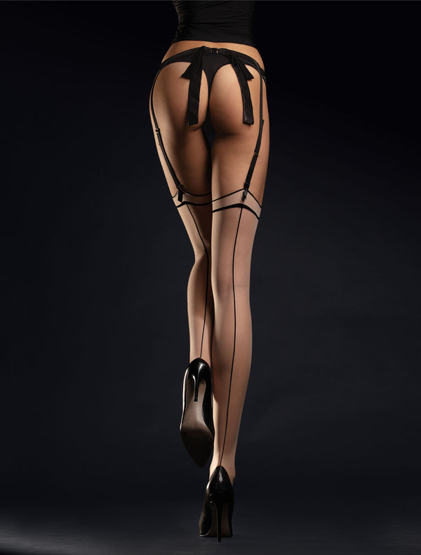 Fiore Madame Stockings - Nude & Black