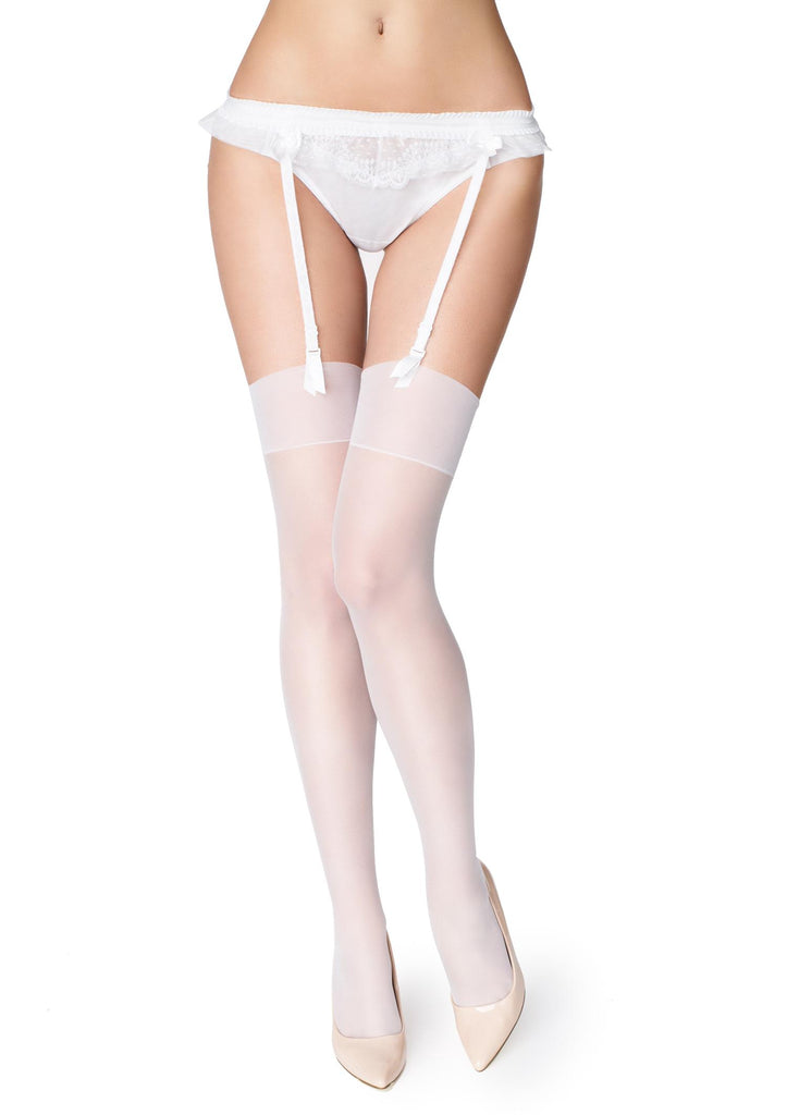 Marilyn Akte II Stockings - White