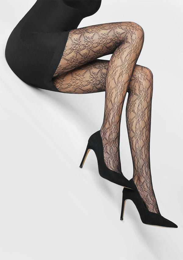Marilyn Charly S07 Fishnet Tights - Black or Grey