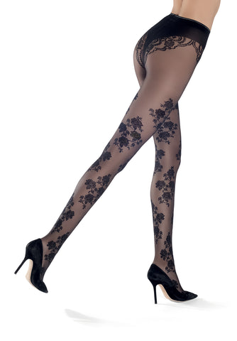 Oroblu Stephany Luxury Tights - in Black or Navy