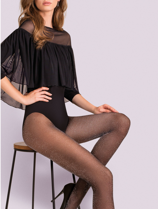 Gabriella Lurex Tights - Gold