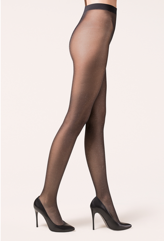 Gabriella Lurex Tights - Silver