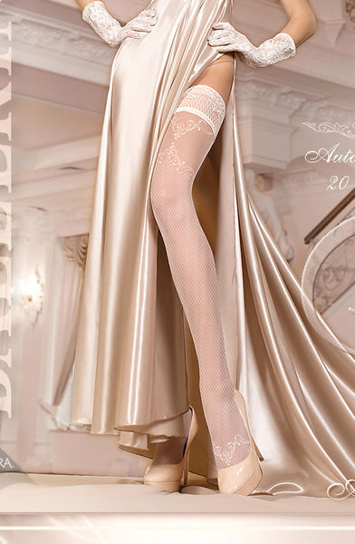 Ballerina 249 Hold Ups Ivory Mystockings