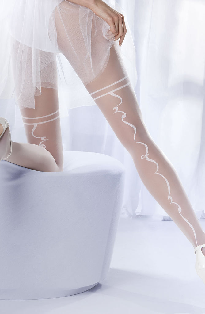 gabriella charme 04 withe tights bridal