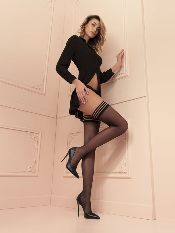 Trasparenze Valentina Hold Ups - Black or nude