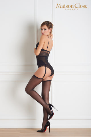 Maison Close Sheer Cut & Curled Stockings 20 Denier