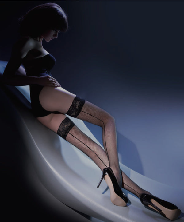 Gabriella Calze Kabarette Hold Ups 155 - Black or White