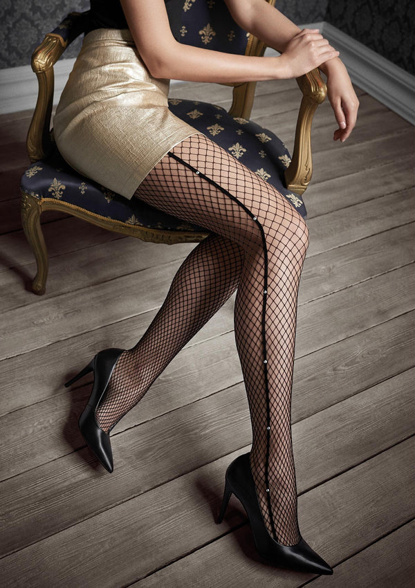 Patrizia Gucci for Marilyn G46 Fishnet Tights with crystals