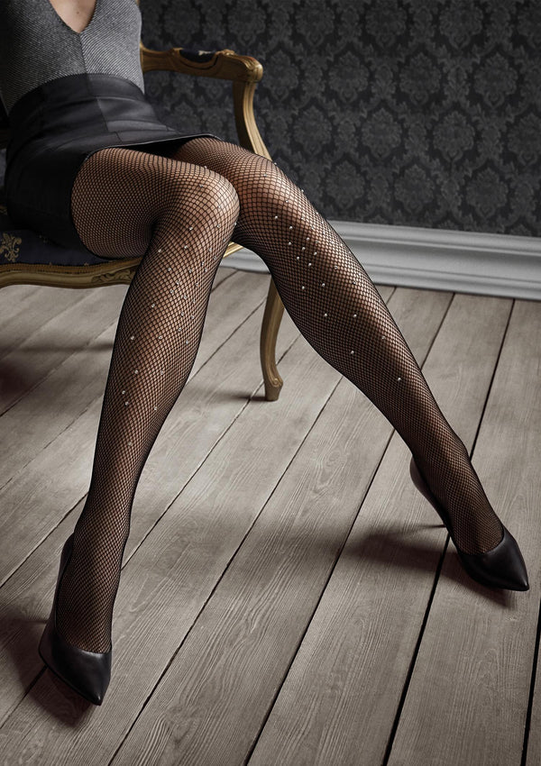 Patrizia Gucci for Marilyn G47 Fishnet Tights with crystals