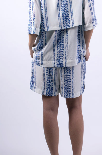 High Shorts | White/Blue