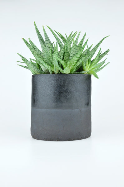 black clay planter by louise madzia 1