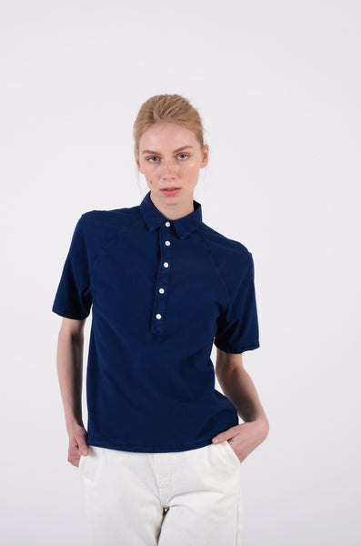 alex shirt womens by bethnals in indigo 1