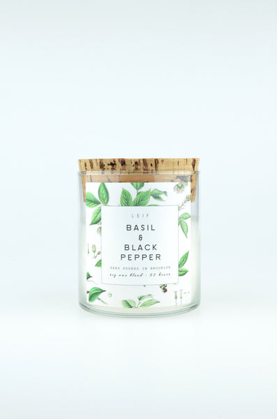 Botanist Candle | Basil & Black Pepper