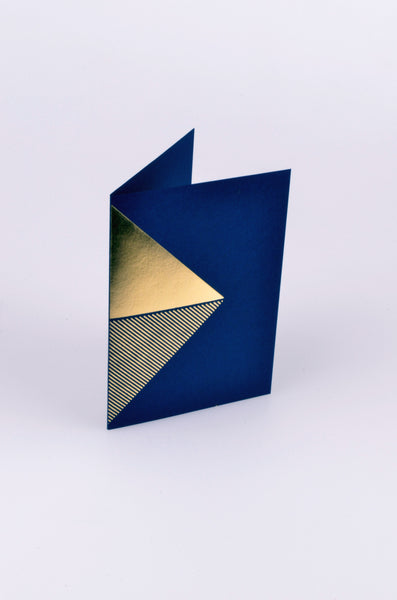 tom pigeon reflex card in brass and navy 1