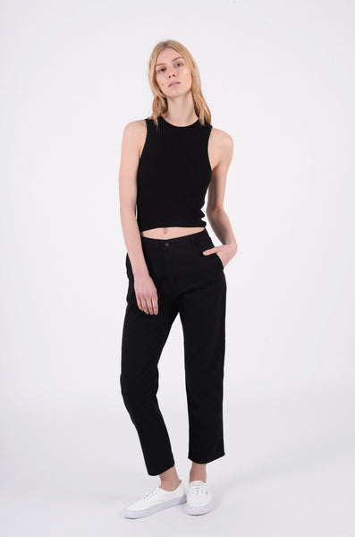 Casey Ankle Pant | Black