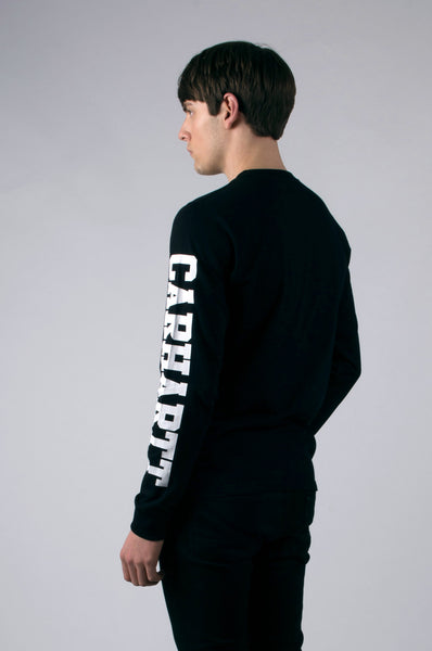 L/S College T-Shirt | Black/White