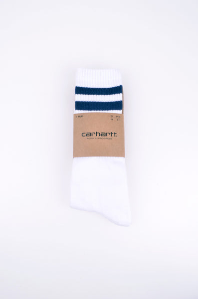 College Socks | White/Blue