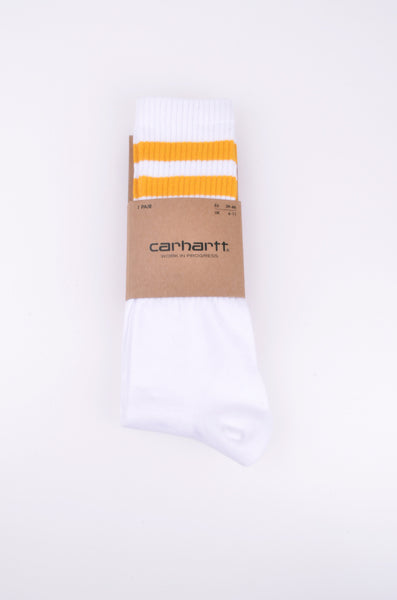 College Socks | White/Oro