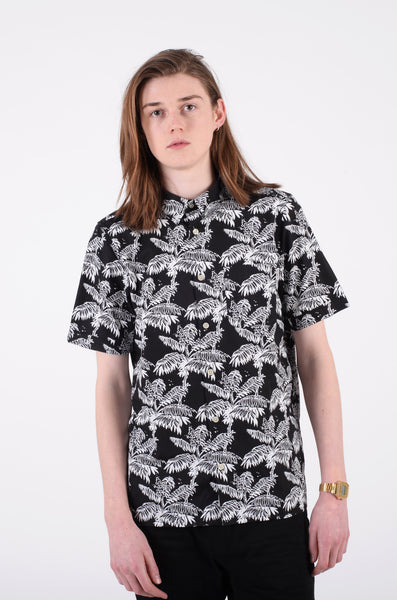 ron ghetto plam print s/s shirt in black by carhartt WIP 1
