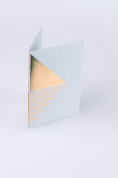 tom pigeon reflex card in brass and grey 1