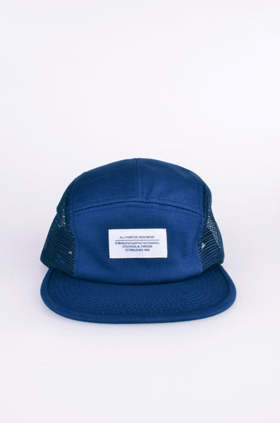 Mesh 5-panel cap in blue by wesc 2