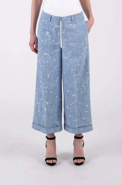 Minor Fold Pants in Washed Blue by libertine-libertine 1