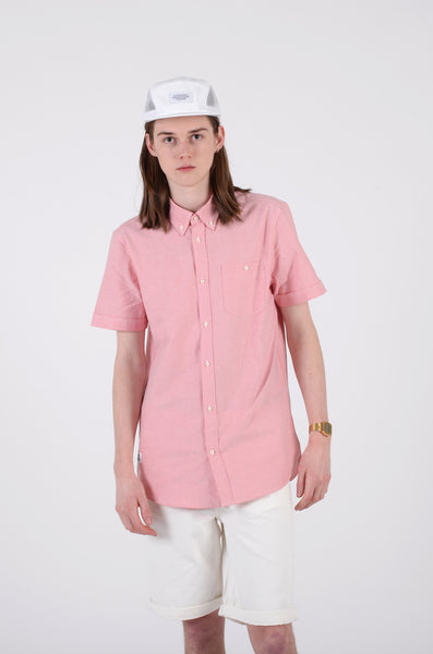 Oden short sleeve shirt in rusty red by wesc 1