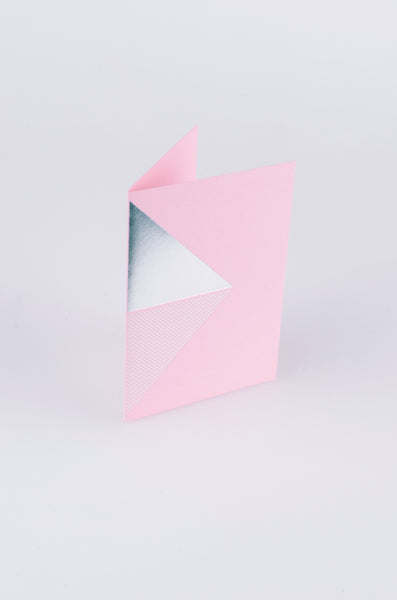 tom pigeon reflex card in silver and pink 1