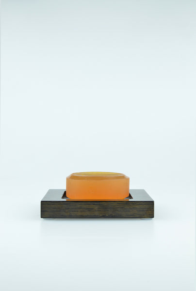 Mezza soap dish in dark oak by wireworks 1