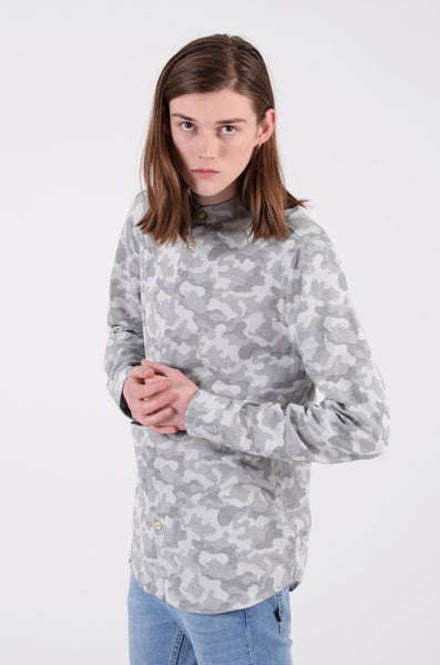 spring camo shirt by wesc in asphalt 1