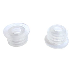 Clear Ribbed Inserts (set of 2)