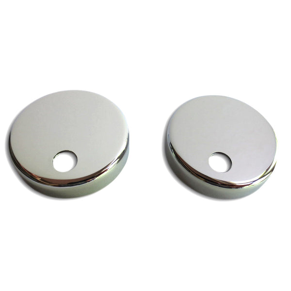 Toilet Seat Mounting Base Caps (set of 2) - Stainless Steel (Polished Chrome Mirror Finish)
