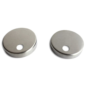 Toilet Seat Mounting Base Caps (set of 2) - Stainless Steel