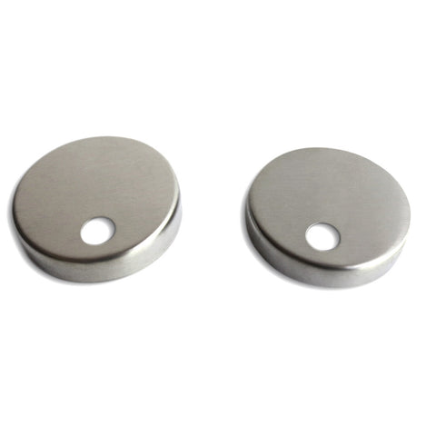 Toilet Seat Mounting Base Caps (set of 2) - Brushed Nickel