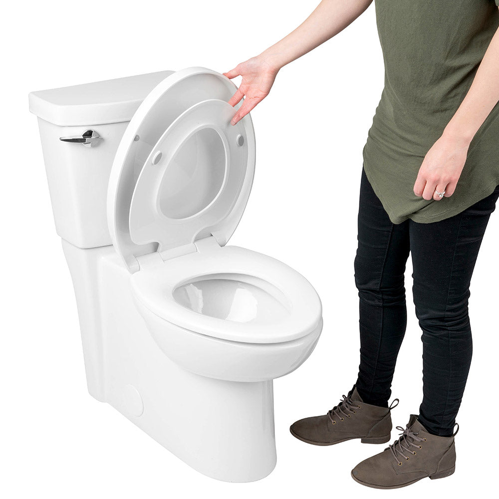 Family Toilet Seat With Built In Child Seat And Cover