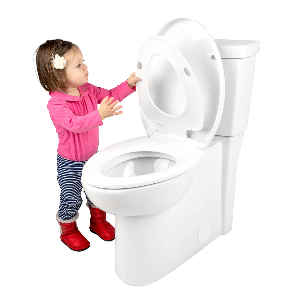 Pleasing Family Toilet Seat With Built In Child Seat And Cover Elongated Only Evergreenethics Interior Chair Design Evergreenethicsorg