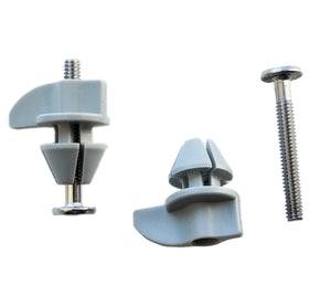 """Simplified"" Mounting Hardware - Gray Split Wingnuts with Stainless Steel Screws (Replaces White Split Wingnuts)"