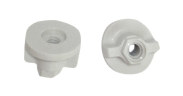 White Plastic Wing Nuts (set of 2)