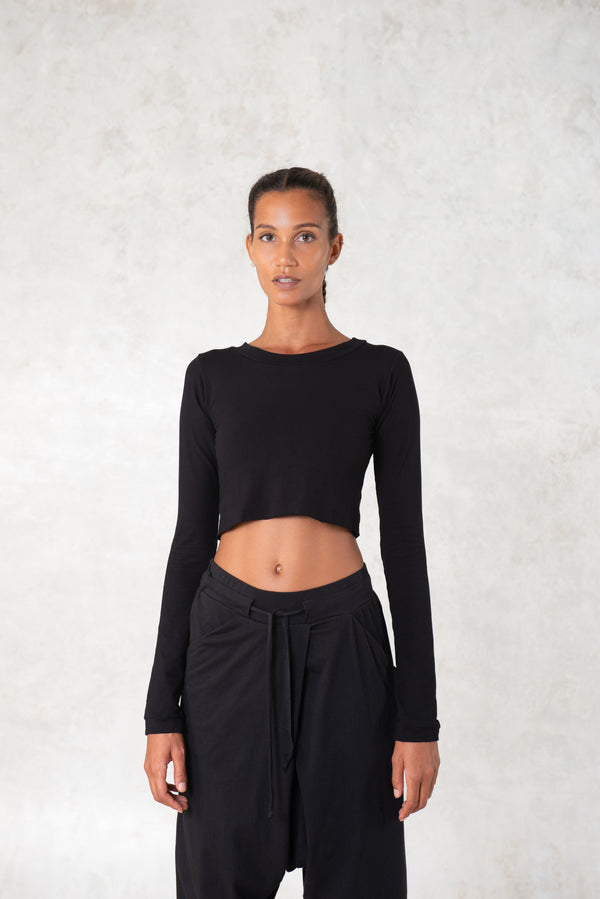 Cropped bamboo top