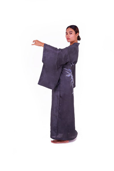 Silk kimono with Dragon motif  - 100% silk