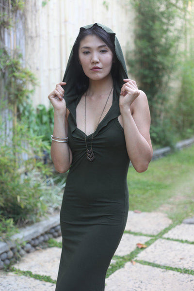 Long hooded dress