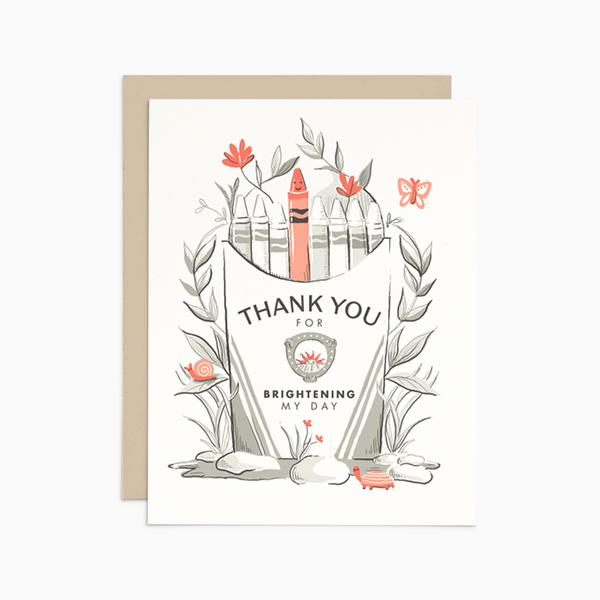 Thank you for brightening my day card | Frankie and Claude