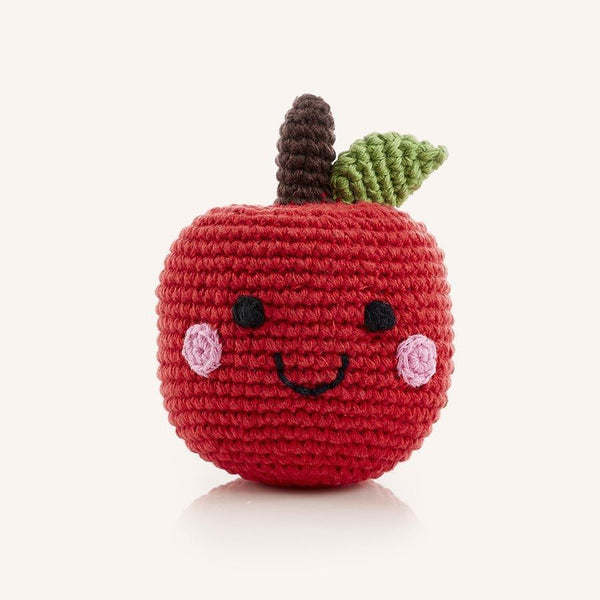 Friendly Crocheted Apple Rattle