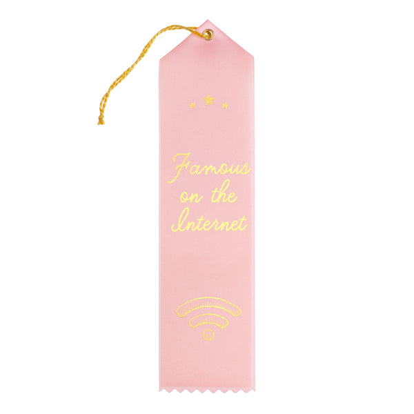 Famous on the Internet Award Ribbon